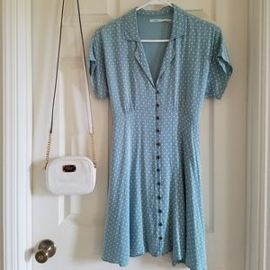 82f16448a1f Kimchi Blue Dresses - Urban Outfitters Kimchi Blue Lucy Sky Polka Dress